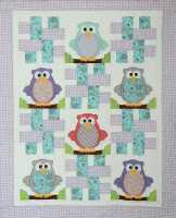 Baby Hoots-owls, baby quilt, fusible applique, childrens quilts