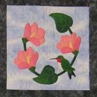 Hummingbird and Hibiscus Flowers