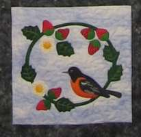 Oriole with Strawberries